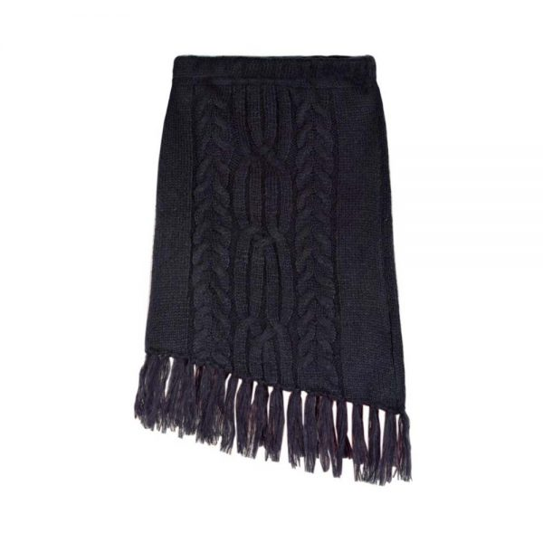 skirt knitting navy